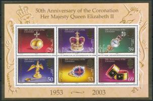 2003 II. Erzsébet koronázási évfordulója blokk Mi 39