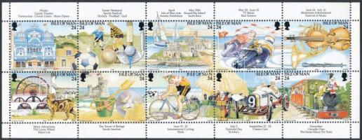 1994 Turizmus bélyegfüzetlap H-Blatt 32 Mi 577-586