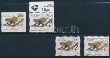 Majom bélyeg 4 típusa Monkey stamps