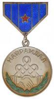Mongólia 1967. Barátság Érem jelzetlen Ag kitüntetés, zománcozott, hátoldalán sorszám, plasztiktokban (36mm) T:2 Mongolia 1967. Friendship Medal unmarked Ag decoration, enamelled, numbered on its back, in plastic case (36mm) C:XF