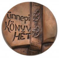 Várhelyi György (1942-) 1979. Ünnepi Könyvhét 1929-1979 Br emlékplakett eredeti dísztokban (75-77mm) T:2