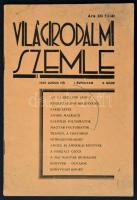 1935 Világirodalmi Szemle. Szerkesztette: Reményi Árpád. 1935. június, I. évfolyam, 2. szám. Kiadói papírkötés. Némileg maszatos borítóval.