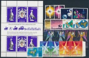 1974-1979 17 klf bélyeg, közte sorok, párok + blokk 1974-1979 17 diff sets with sets, pairs + block