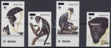 WWF Monkey overprinted set, WWF: Majom felülnyomott sor
