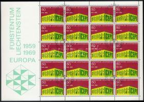 Europa CEPT minisheet with First Day Cancellation, Europa CEPT kisív elsőnapi bélyegzéssel
