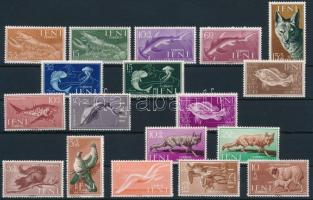 1953-1959 18 db Állat bélyeg 1953-1959 18 Animal stamp