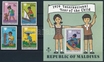 1979 Nemzetközi Gyermekév sor Mi 822-825 + blokk Mi 57