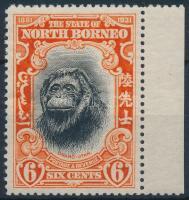 Majom ívszéli bélyeg Monkey margin stamp