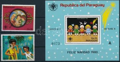 International Children's Year - Christmas complete year SAMPLE closing value + block, Nemzetközi Gyermekév - Karácsony teljes ív MINTA + záróérték + blokk