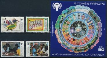 International Children's Year set + block, Nemzetközi Gyermekév sor + blokk