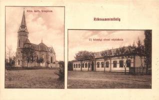 Budapest XVI. Rákosszentmihály, katolikus templom, elemi népiskola