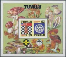 Sakk világbajnokság, Rotary, cserkész, gomba vágott blokk, Chess World Cup, Rotary, Boy Scouts, Mushrooms imperforated block