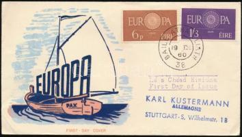 1950 Europa CEPT sor Mi 146-147 FDC-n