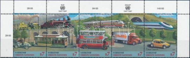 1997 Közlekedés ívsarki ötöscsík Mi 231-235