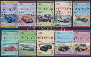 1984-1985 Cars 4 diff sets, Autó motívum 1984-1985 4 klf sor