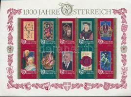 Austria Millennium block, 1000 éves Ausztria blokk