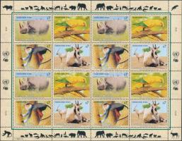 Endangered animals (III) minisheet, Veszélyeztetett állatok (III) kisív