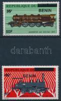 2009 Vonat sor 2 felülnyomott értéke Mi 1576 + 1581