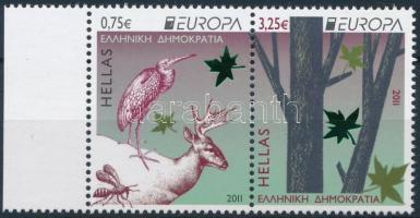 Europa CEPT, forest set in margin pair, Europa CEPT, Az erdő sor ívszéli párban