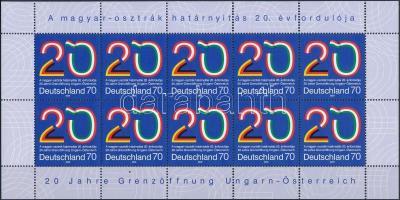 2009 Osztrák - magyar határnyitás tízes ív Mi 2759