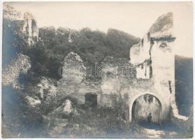 cca 1910 A Szkalkai-apátság (Trencsén megye) tornyai eredeti fotó 12x17 cm