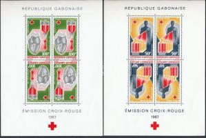 Vöröskereszt blokk sor eredeti borítójában, Red Cross block set