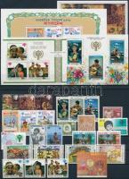 International Children Year 26 diff stamps + 4 diff blocks, Nemzetközi Gyermekév 26 klf bélyeg + 4 klf blokk 2 stecklapon