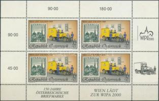 International Stamp Exhibition WIPA 2000 minisheet, Nemzetközi Bélyegkiállítás WIPA 2000 kisív