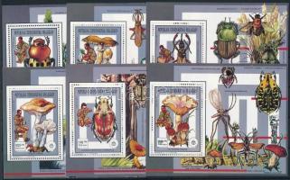 1991 Cserkész, rovarok és gombák blokksor Mi 1309-1314 A