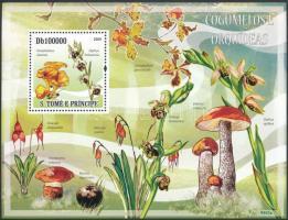 Mushrooms and orchids block, Gombák és orchideák blokk