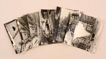 1976 Budapest, Felszabadulás téri építkezés, 21 db vintage fotó, 9x14 cm