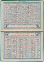 1936 Gróf Apponyi Albert poliklinika kihajtható kártyanaptára