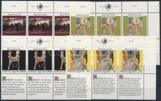 1990-1991 Declaration of Human Rights (I-III) set in corner blocks of 6, 1990-1991 Emberi jogok nyilatkozata (II-III) sor ívsarki hatostömbökben