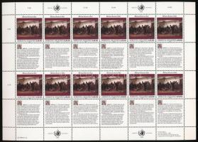 Declaration of Human Rights (II) minisheet 4,50S, Emberi jogok nyilatkozata (II) kisív 4,50S
