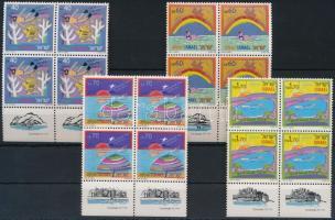 1989 Turizmus sor tabos négyestömbökben Mi 1116-1119