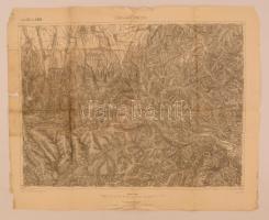 cca 1905 Románia, Lisa és Zernesti környéke katonai térkép 40x56 cm / Romania Lisa and Zernesti area map