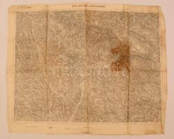 cca 1905 Izbugyaradvány és környéke katonai térkép 50x38 cm
