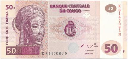 Kongói Demokratikus Köztársaság 2000. 50F T:I Congo Democratic Republic 2000. 50 Francs C:UNC Krause 91