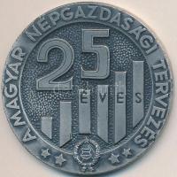 1972. 25 éves a magyar népgazdasági tervezés 1947-1972 fém plakett dísztokban (60mm) T:2