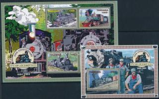 Locomotive mini sheet + block, Mozdony kisív + blokk
