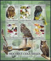 Owls and mushrooms minisheet, Baglyok és gombák kisív