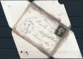 1841 Black Penny levélen Turnham Green - HOUNSLOW - Hatfield