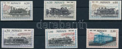 1968 100 éves vasúti összeköttetés Nizza és Monaco között sor Mi 896-901