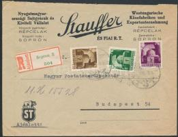 1945 (2. díjszabás) Ajánlott távolsági levél Hadvezérek 1P, 2P, 5P bérmentesítéssel (hajtóka hiányzik)