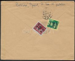 1945 (5. díjszabás) Távolsági levél tartalommal Kisegítő 20P/30f + 100P/12f bérmentesítéssel