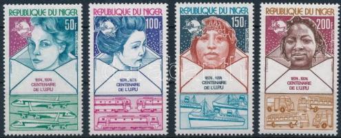 1974 100 éves az UPU sor Mi 442-445