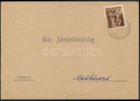 1946 (7. díjszabás) Kézbesítési bizonyítvány távolsági levelezőlapként bérmentesítve Betűs Tlp.2/4f bélyeggel