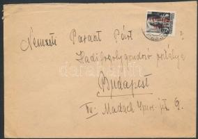 1946 (14. díjszabás), Szükség borítékos távolsági levél Betűs (III) Távolsági levél/18f bérmentesítéssel