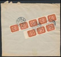 1946 (21. díjszabás) Távolsági levél Milpengős 8x50.000mP bérmentesítéssel (boríték szétnyitva)