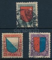 Pro Juventute; Coat of Arms set, Pro Juventute; Címer sor